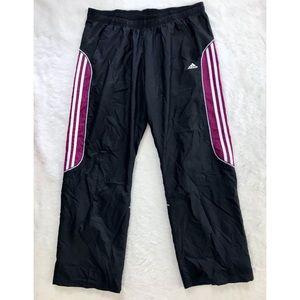 ADIDAS Black Purple Athletic Pants